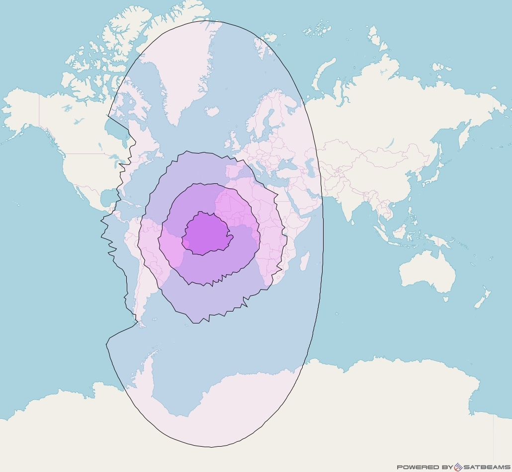 SES 4 at 22° W downlink C-band Global Beam coverage map