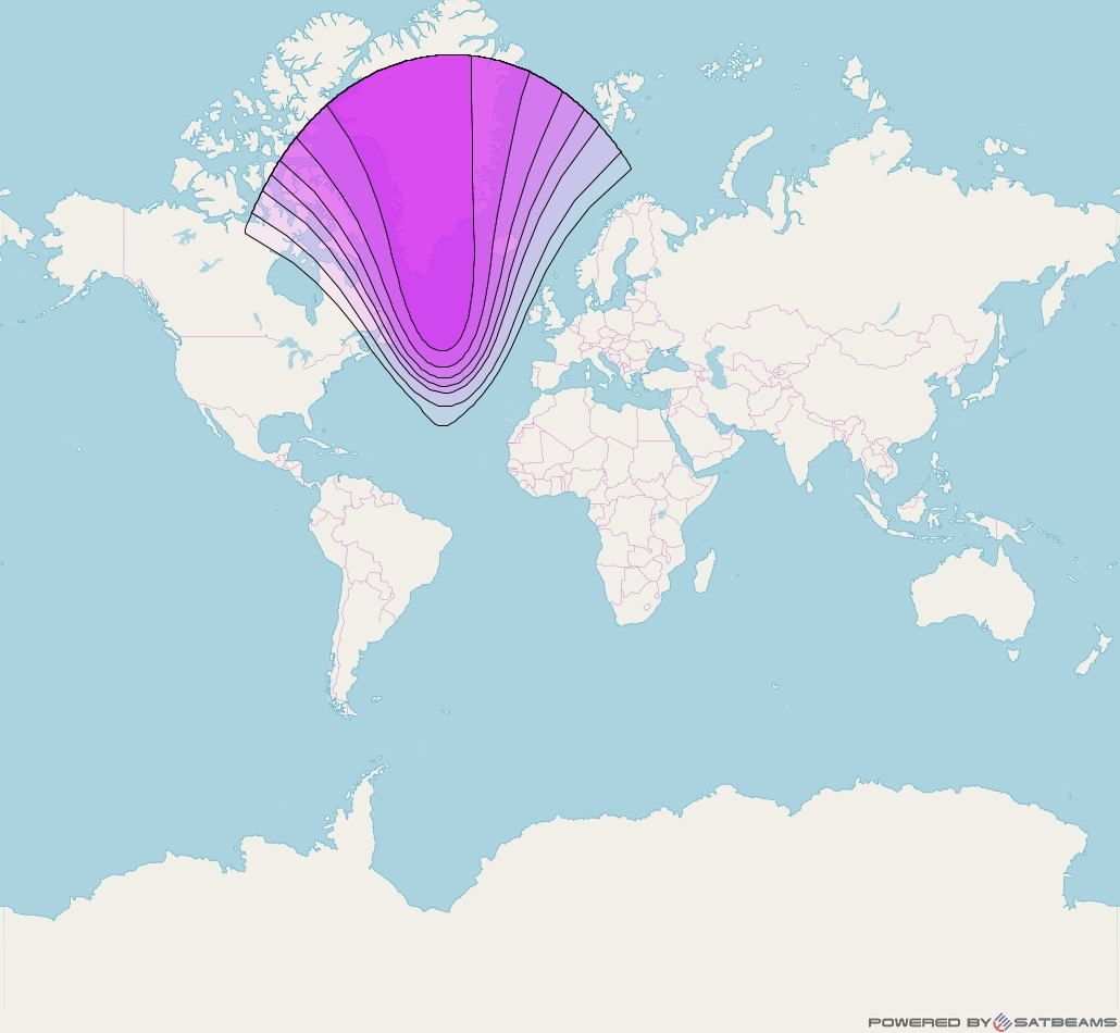 Intelsat 35e at 34° W downlink C-band C17 User Spot beam coverage map
